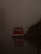 River Mist Photos - Red Reflection by Dawn OConnor