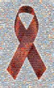 Collage Posters - Red Ribbon to Benefit CAP Poster by Boy Sees Hearts