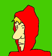 Hoodie Art - Red Riding Cliff by Jera Sky