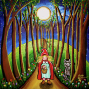 Red Riding Hood Paintings - Red Riding Hood by Renie Britenbucher