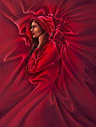 Red Riding Hood Framed Prints - Red Riding Hood Framed Print by Rob Carlos