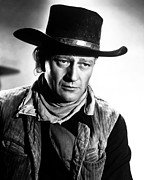 1940s Movies Photo Posters - Red River, John Wayne, 1948 Poster by Everett