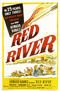 Films By Howard Hawks Posters - Red River, John Wayne, Joanne Dru Poster by Everett