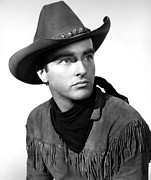 Cowboy Hat Photos - Red River, Montgomery Clift, 1948 by Everett