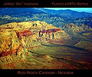 Landscape Posters Framed Prints - Red Rock Canyon Poster print Framed Print by James Bo Insogna