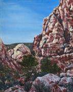 Roseann Gilmore Painting Posters - Red Rock Canyon Poster by Roseann Gilmore