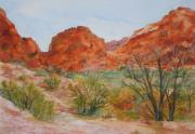 Red Rock Canyon Paintings - Red Rock Canyon by Vicki  Housel