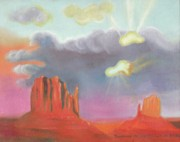 Rock Shapes Paintings - Red Rock Country by Suzanne  Marie Leclair