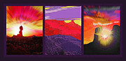 National Parks Mixed Media Framed Prints - Red Rock Country Triptych Framed Print by Steve Ohlsen