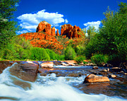 Sedona Arizona Posters - Red Rock Crossing Poster by Frank Houck
