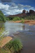 Red Rock Crossing Prints - Red Rock Crossing In Sedona, Arizona Print by David Edwards