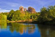 Sedona Prints - Red Rock Crossing One Print by Paul Basile