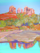 Southwest Landscape Pastels Metal Prints - Red Rock Crossing Sedona Metal Print by Dan Scannell