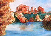 Red Rock Crossing Painting Prints - Red Rock Crossing Print by Sharon Mick