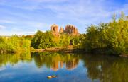 Sedona Prints - Red Rock Crossing Two Print by Paul Basile