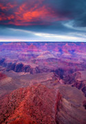 Canyon Photos - Red Rock Dusk by Mike  Dawson