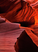 Sandstone Art - Red Rock Inferno by Mike  Dawson