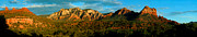Stitched Posters - Red Rock panoramic Poster by Anthony Citro