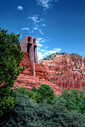 Chapel On The Rock Framed Prints - Red rock spirituality Framed Print by Anthony Citro