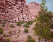 Roseann Gilmore Art - Red Rock Trail by Roseann Gilmore