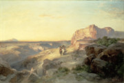 Riders Posters - Red Rock Trail Poster by Thomas Moran