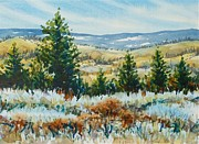 Spokane Painting Framed Prints - Red Rock View Framed Print by Lynne Haines