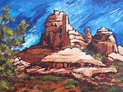 Oak Creek Prints - Red Rocks 2 Print by Sandy Tracey