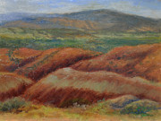 Abiquiu Paintings - Red Rocks at Abiquiu by Phyllis Tarlow
