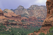 Canyons Prints - Red Rocks Of Boynton Canyon Print by Rich Reid