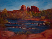 Red Rock Crossing Painting Prints - Red Rocks of Sedona Print by Ruth Ann Sturgill