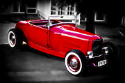 Custom Automobile Framed Prints - Red Rod Framed Print by Phil 