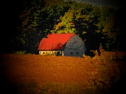 Rural Indiana Prints - Red Roof Barn Print by Joyce  Kimble Smith