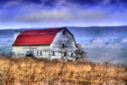 Abandoned Barn Prints - Red Roof Inn Print by Emily Stauring