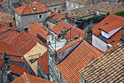 Red Roofs Posters - Red Roofs of Dubrovnik Poster by Madeline Ellis