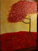 Red Rooted Tree Dancer Print by Nora Sorensen