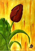 Baraa Absi Metal Prints - Red rose Metal Print by Baraa Absi