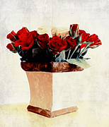 Macro Digital Art - Red Roses by Kristin Kreet