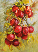 Vine Paintings - Red Russian by Katherine Tucker
