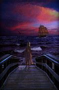Seas Digital Art - Red Sails in the Sunset by Lianne Schneider