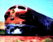 Santa Fe Digital Art - Red Santa Fe Super Chief by Wingsdomain Art and Photography