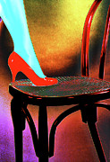 Digital Processing Prints - Red shoe Print by Adriano Pecchio
