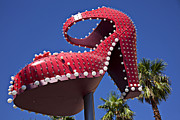 Vegas Photos - Red shoe high heels by Garry Gay
