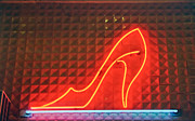 Funny Shoe Prints - Red Shoe Print by Matthew Bamberg