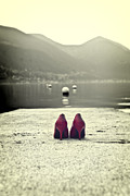 Mountain Lake Prints - Red Shoes Print by Joana Kruse
