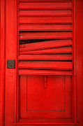 Old San Juan Metal Prints - Red Shutter Metal Print by Timothy Johnson
