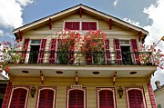 Patterson House Prints - Red Shutters Print by Jerry Patterson