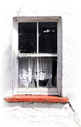 Torn Photo Framed Prints - Red Sill Framed Print by Marion Galt