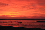 Chatham Prints - Red Skies at Morning Sailors Take Warning Print by John Burk