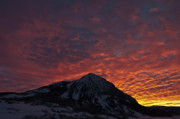Crested Butte Prints - Red Sky at Morning Print by Dusty Demerson