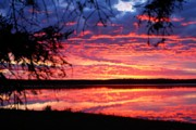 Prince Albert National Park Photos - Red Sky at Morning by Larry Ricker